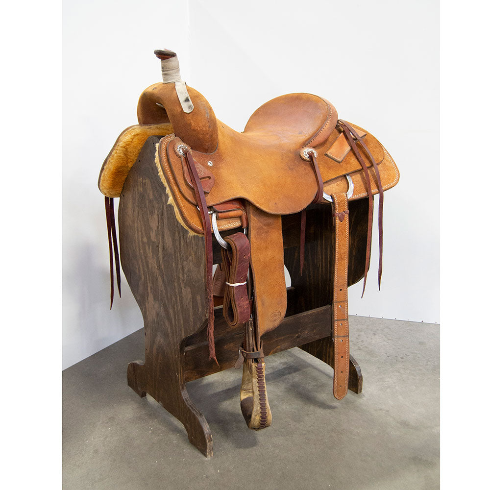 "16"" USED TESKEY'S RANCH CUTTING SADDLE"