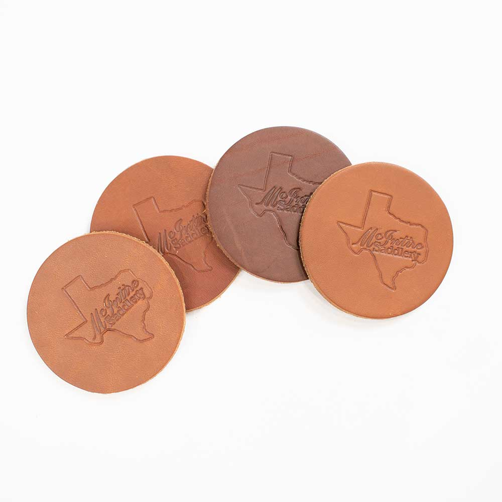 McIntire Saddlery Scented Leather Car Coasters (Multiple Scents)