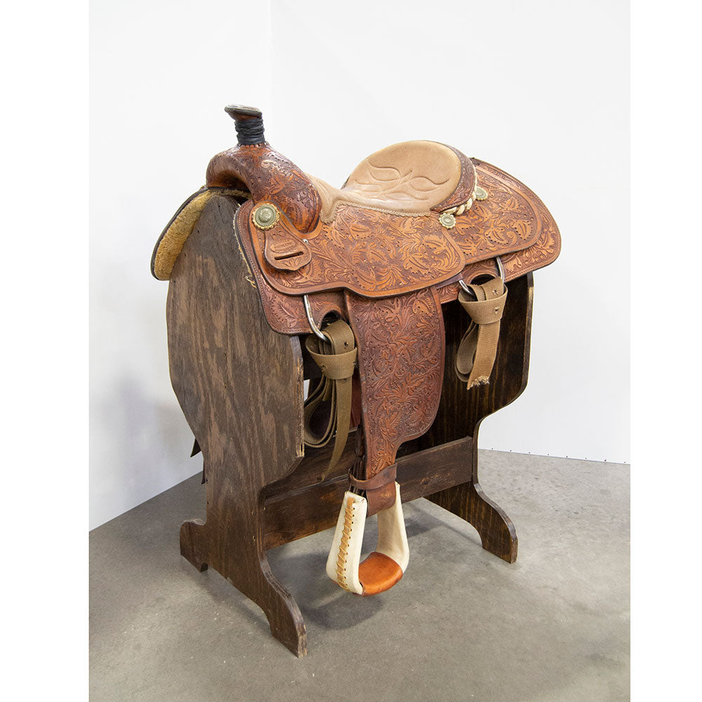 "14.5"" USED HAMMAN ROPING SADDLE"