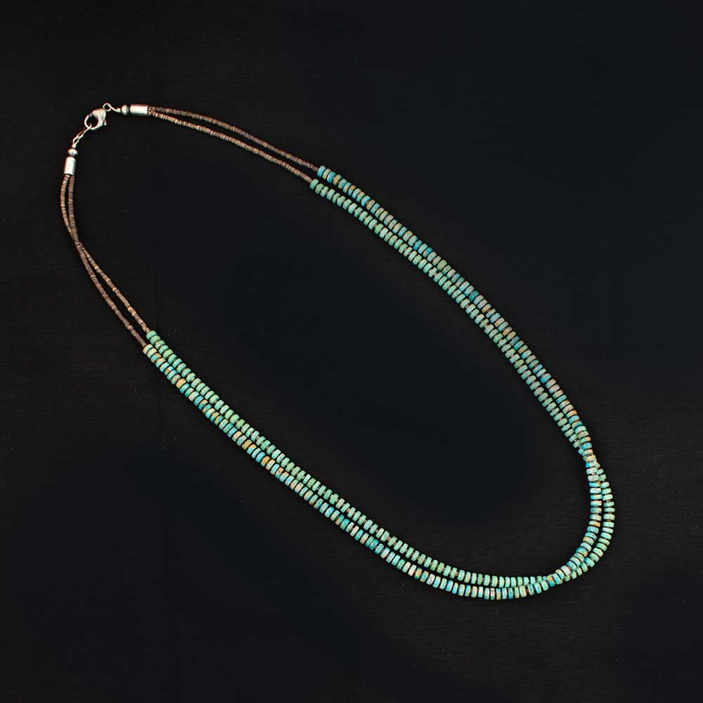 Hand Strung Turquoise Double Strand  Beads WOMEN - Accessories - Jewelry - Necklaces SUNWEST SILVER Teskeys