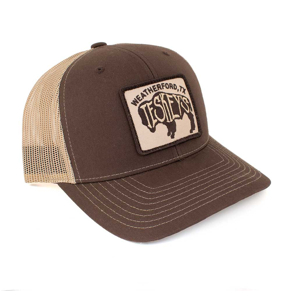 Teskey's Buffalo Logo Patch Cap - Chocolate/Tan TESKEY'S GEAR - Baseball Caps RICHARDSON Teskeys