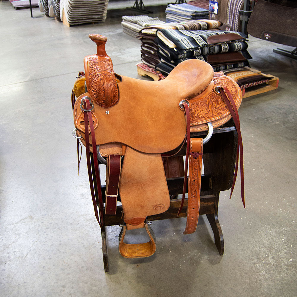 "15.5"" TESKEY'S RANCH SADDLE Saddles - New Saddles - RANCH Teskey's Teskeys"