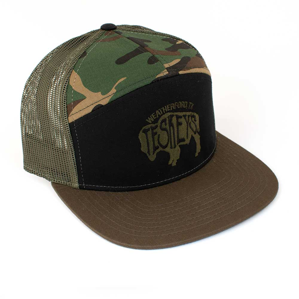 Teskey's Buffalo Logo Flat Bill Camo Cap TESKEY'S GEAR - Baseball Caps RICHARDSON Teskeys