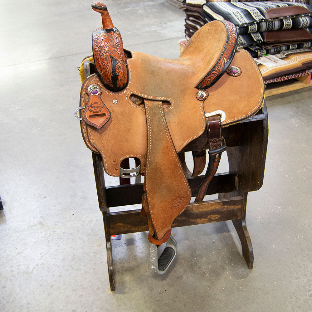 "13"" USED TESKEY'S BARREL SADDLE Saddles - Used Saddles - BARREL Teskey's Teskeys"