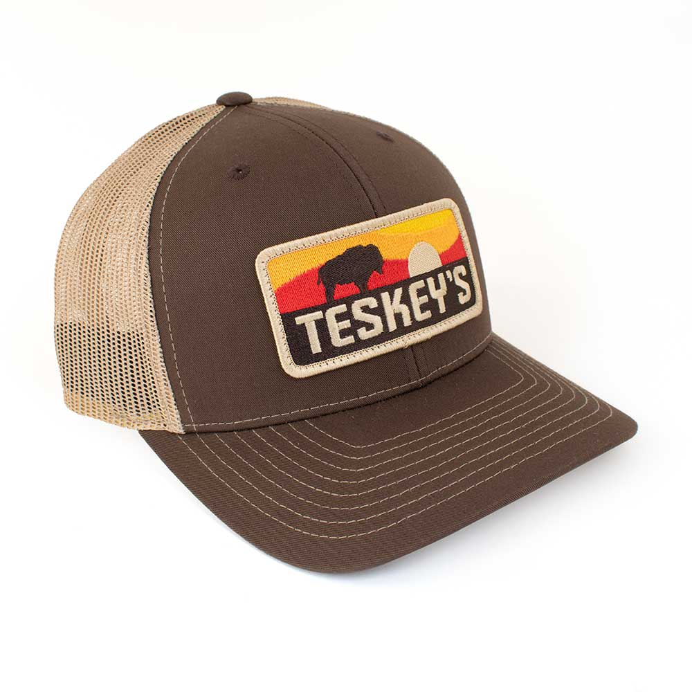 Teskey's Sunset Buffalo Cap - Brown/Tan TESKEY'S GEAR - Baseball Caps RICHARDSON Teskeys