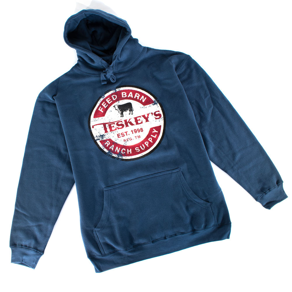 Teskey's Feed Barn Ranch Supply Icon Hoodie - Indigo TESKEY'S GEAR - Hoodies OURAY SPORTSWEAR Teskeys