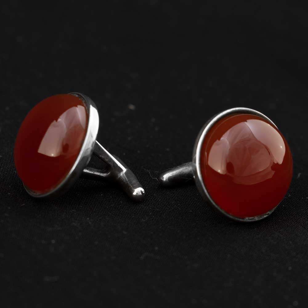 Red Stone Cuff Links MEN - Accessories - Jewelry & Cuff Links Teskey's Teskeys