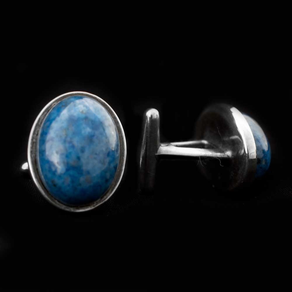 Blue Stone Cuff Links MEN - Accessories - Jewelry & Cuff Links Teskey's Teskeys