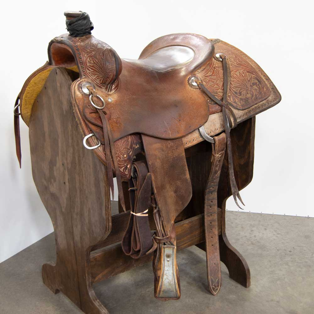 "15"" USED TX RANCH OUTFITTERS RANCH SADDLE Saddles - Used Saddles - RANCH TX Ranch Outfitters Teskeys"