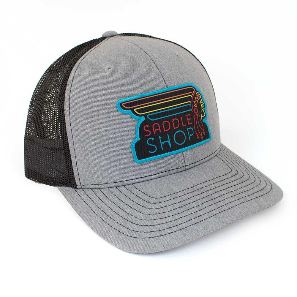 Teskey's Neon Sign Cap - Heather Grey/Black TESKEY'S GEAR - Baseball Caps RICHARDSON Teskeys
