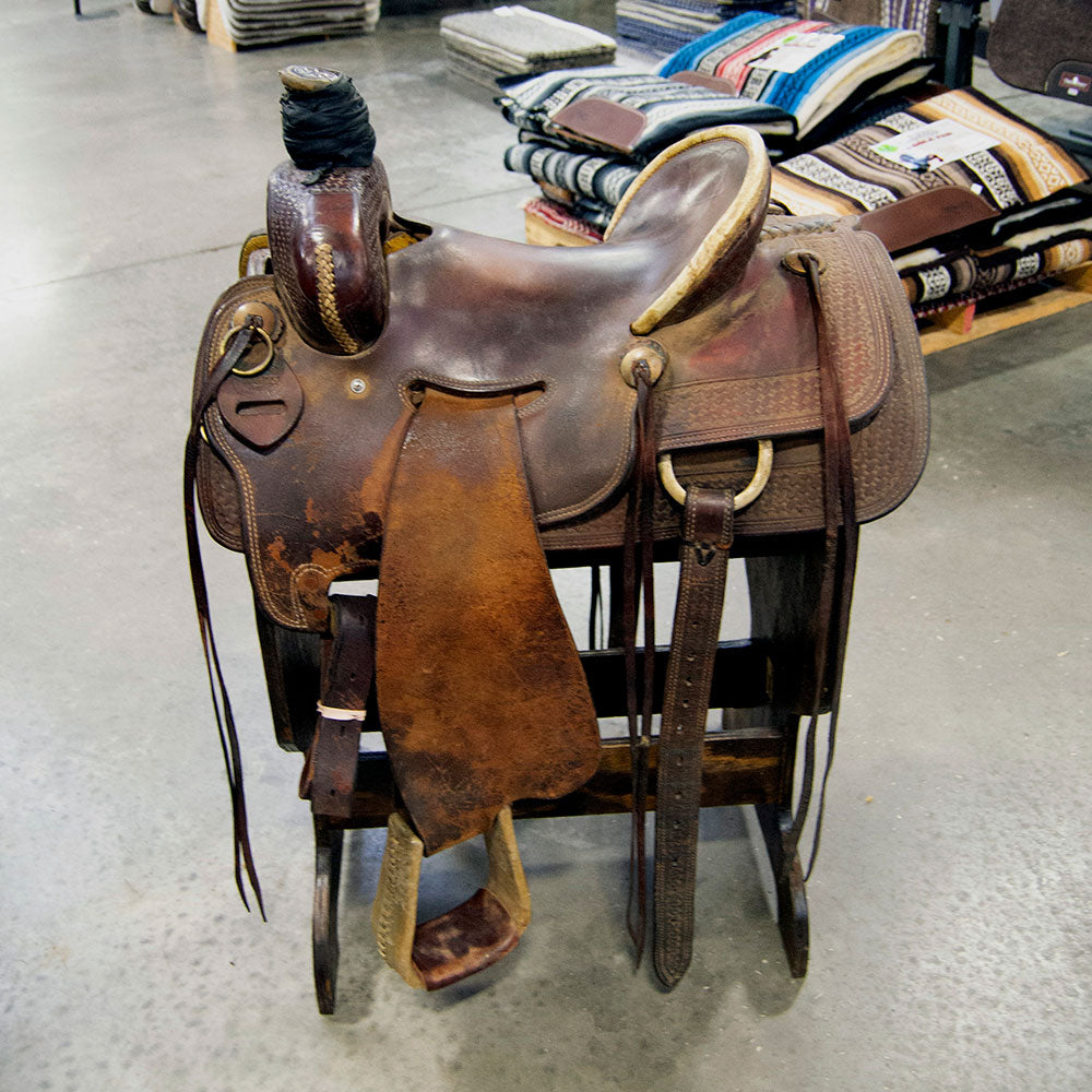 "14.5"" USED TESKEY'S RANCH ASSOCIATION SADDLE Saddles - Used Saddles - RANCH Teskey's Teskeys"