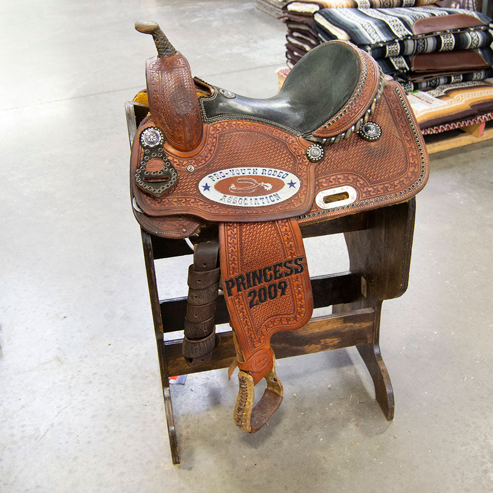 "13.5"" USED TESKEY'S BARREL SADDLE Saddles - Used Saddles - BARREL Teskey's Teskeys"
