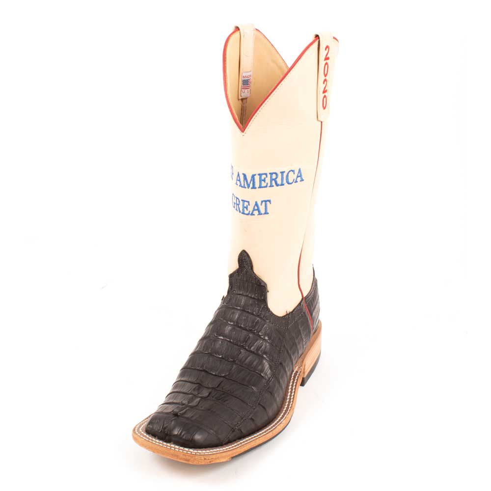 "Anderson Bean ""Keep America Great"" Caiman Tail Boot MEN - Footwear - Exotic Western Boots ANDERSON BEAN BOOT CO. Teskeys"