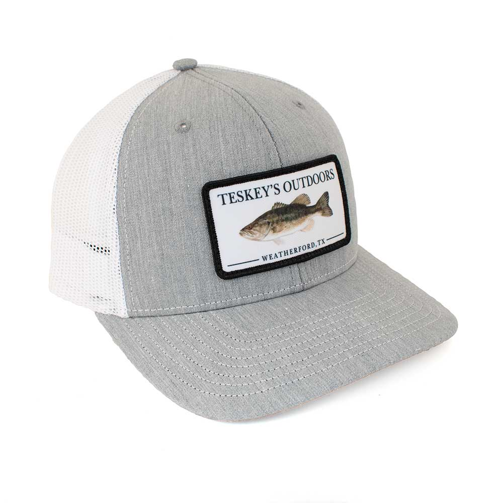 Teskey's Outdoors Bass Cap - Heather Grey/White TESKEY'S GEAR - Baseball Caps RICHARDSON Teskeys