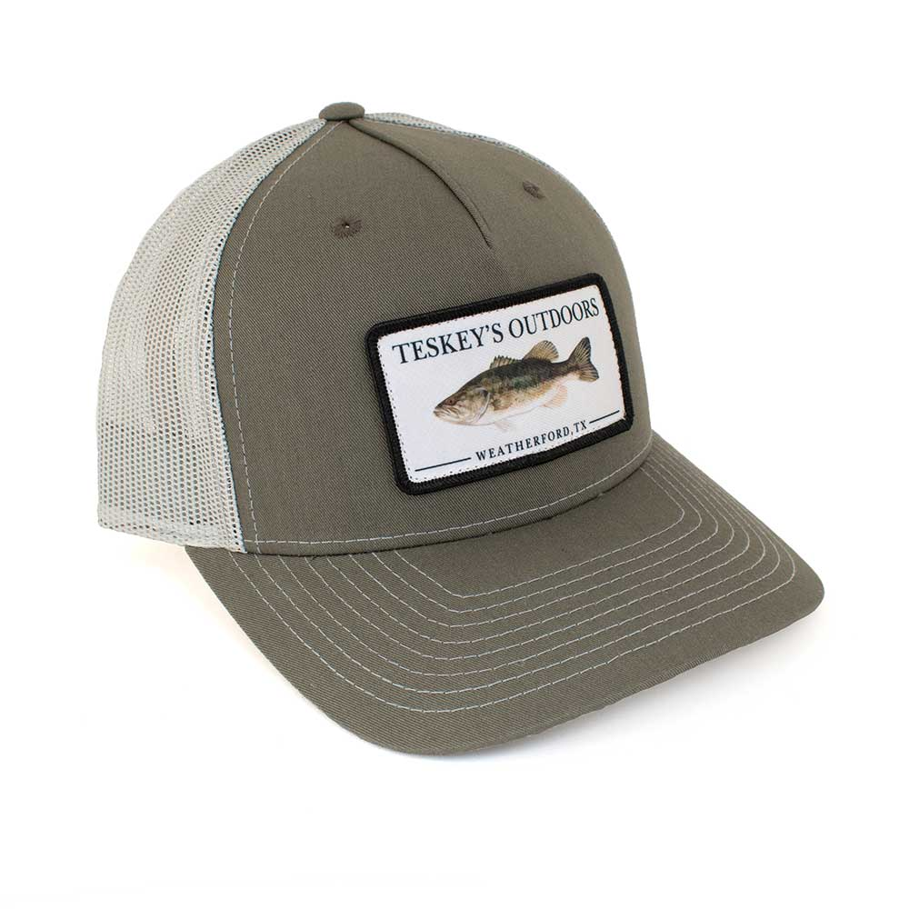 Teskey's Outdoors Bass Cap - Olive Green/Grey TESKEY'S GEAR - Baseball Caps RICHARDSON Teskeys
