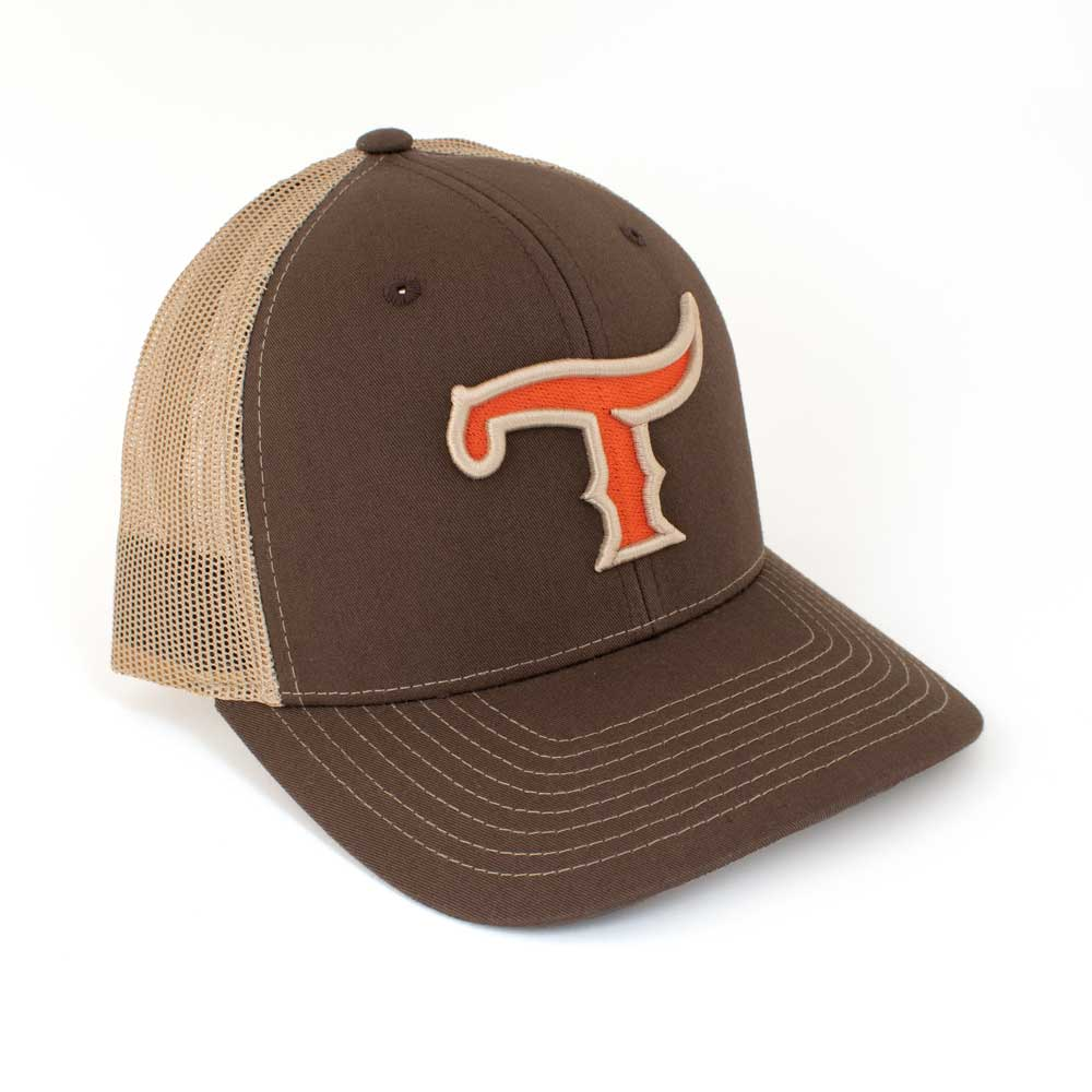 Teskey's T Logo Cap - Brown/Khaki, Orange/Khaki Logo TESKEY'S GEAR - Baseball Caps RICHARDSON Teskeys
