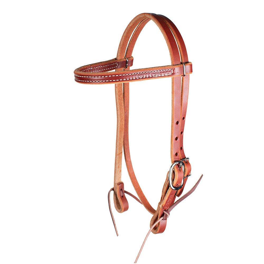 Teskey's Chestnut Pony Browband Headstall Tack - Pony Tack - Headstalls Teskey's Teskeys