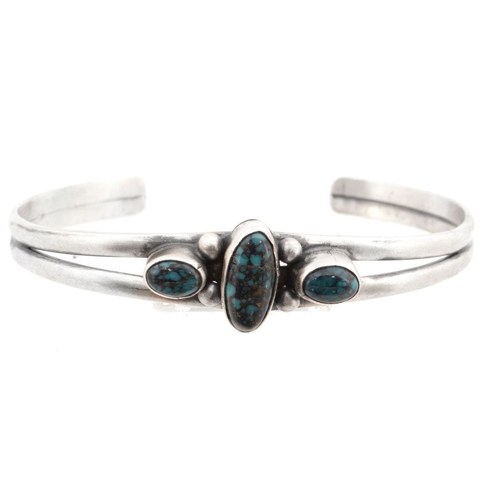 3 Stone Turquoise Cuff by Larry Spencer WOMEN - Accessories - Jewelry - Bracelets SUNWEST SILVER Teskeys