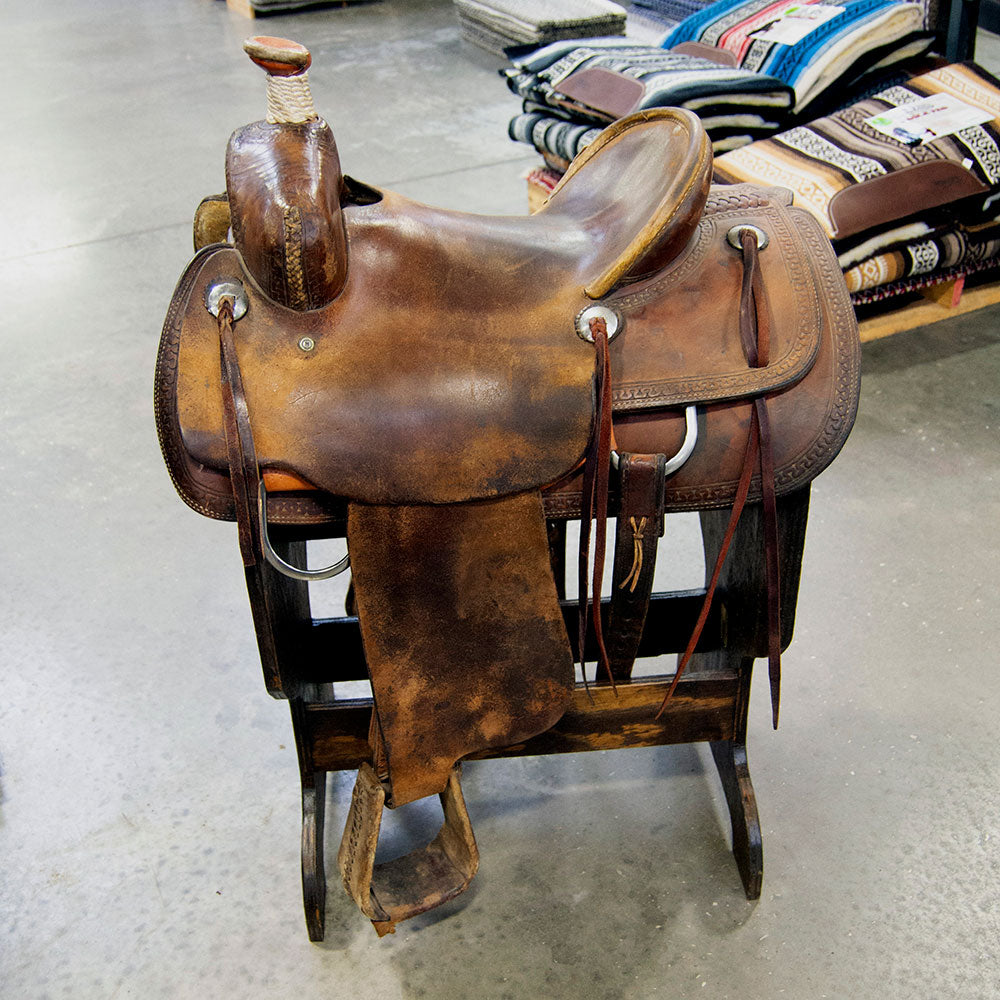"14"" USED TESKEY'S RANCH ASSOCIATION SADDLE Saddles - Used Saddles - RANCH Teskey's Teskeys"