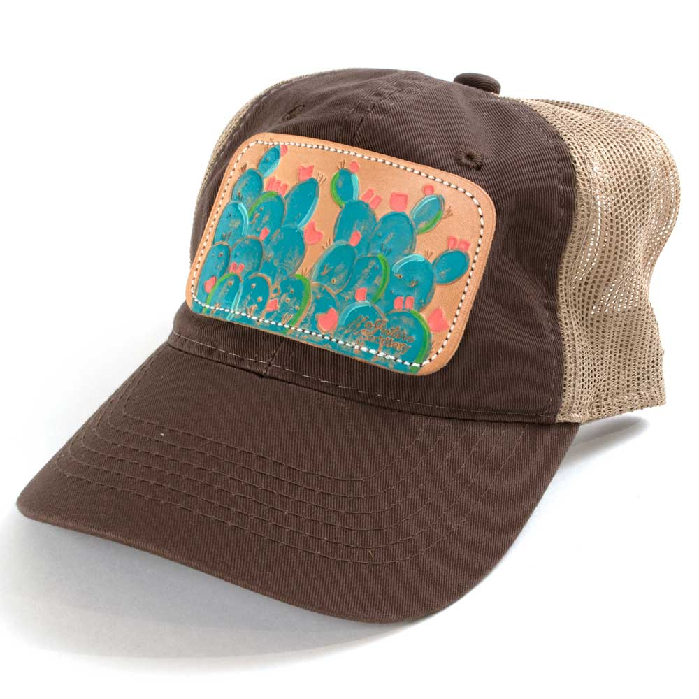 Blue Cactus Low Crown Cap Brown/Tan WOMEN - Accessories - Caps, Hats & Fedoras MCINTIRE SADDLERY Teskeys