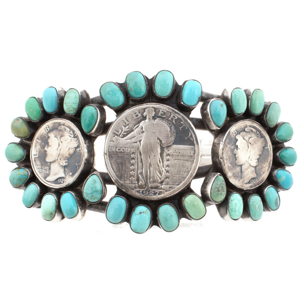 Paul Livingston Carico Lake Liberty Coin Cuff WOMEN - Accessories - Jewelry - Bracelets SUNWEST SILVER Teskeys