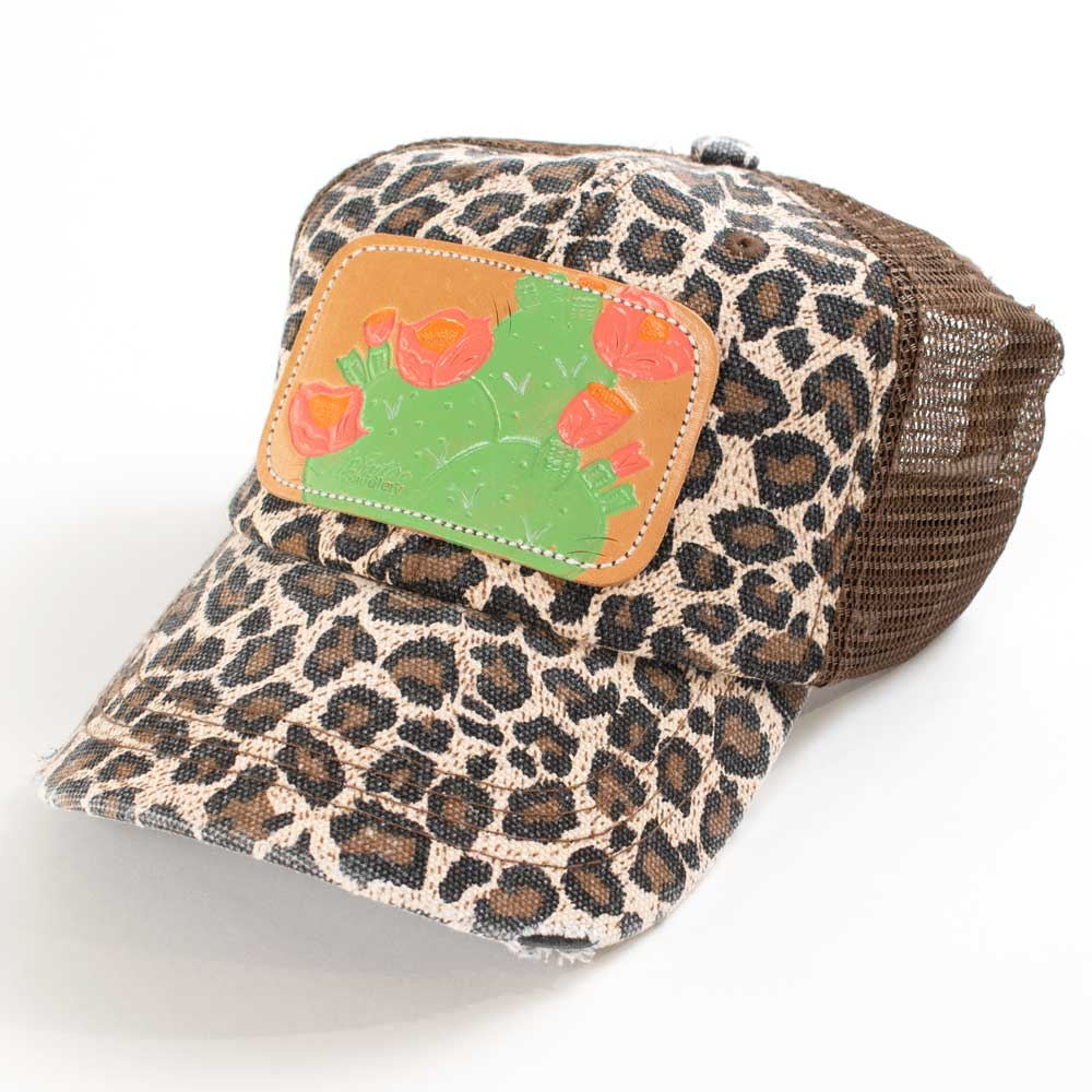McIntire Saddlery Leopard Cactus Low Crown Ponytail Cap WOMEN - Accessories - Caps, Hats & Fedoras MCINTIRE SADDLERY Teskeys