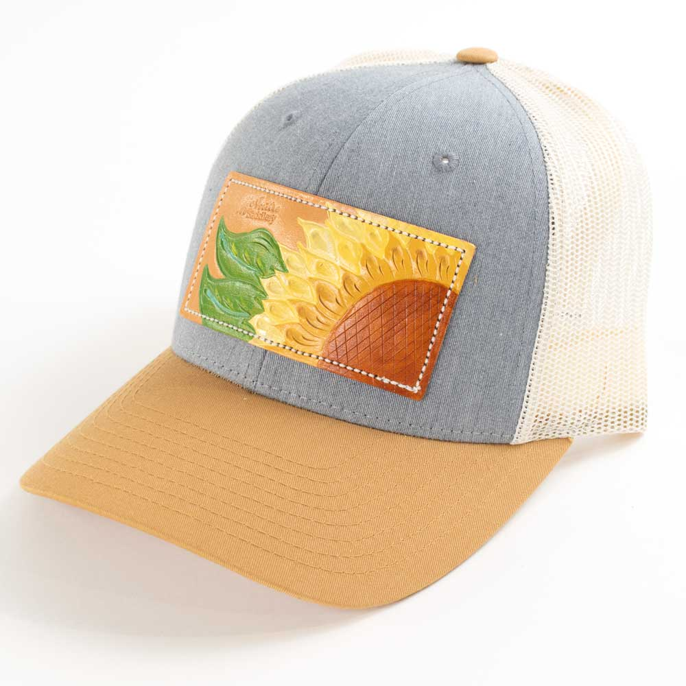 McIntire Saddlery Sunflower Cap Heather Grey/Mustard/Birch WOMEN - Accessories - Caps, Hats & Fedoras MCINTIRE SADDLERY Teskeys