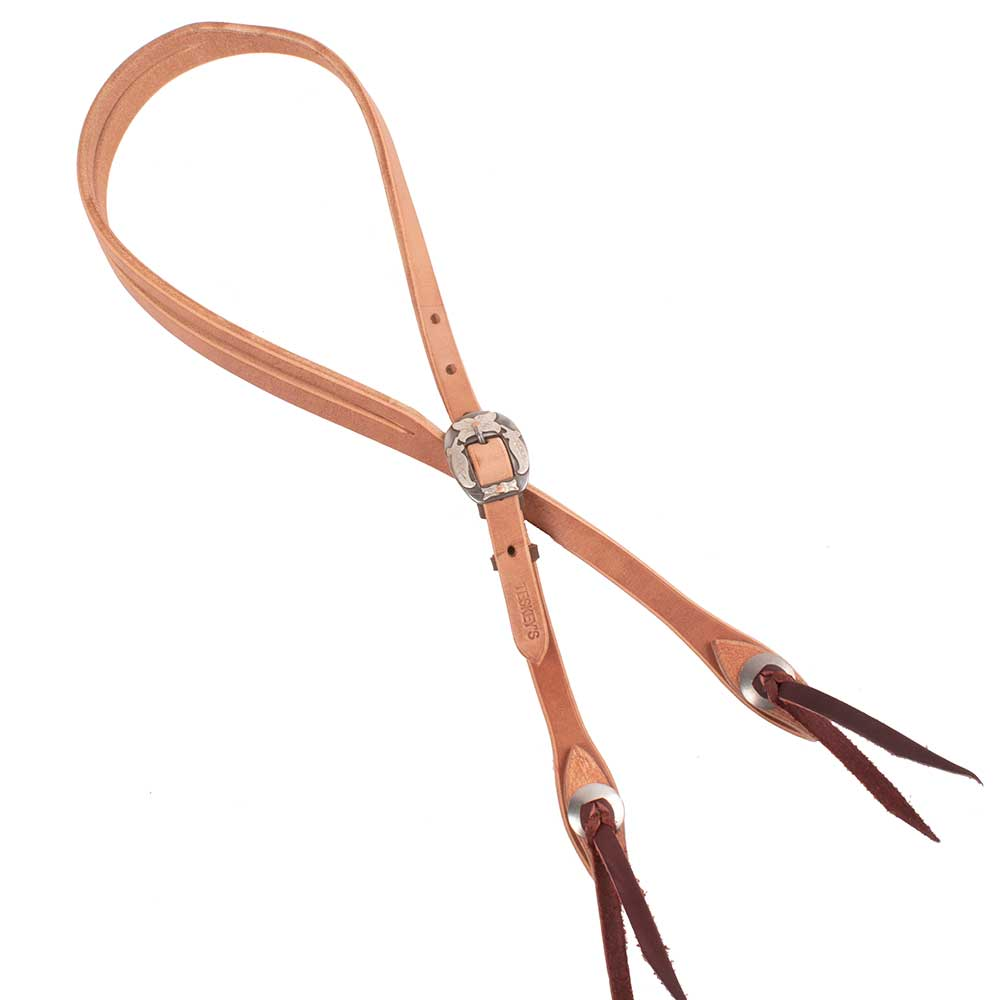 "Teskey's Josh Owenbey Cowboy Line 5/8"" Slit Ear Headstall Tack - Headstalls - One Ear Teskeys Teskeys"