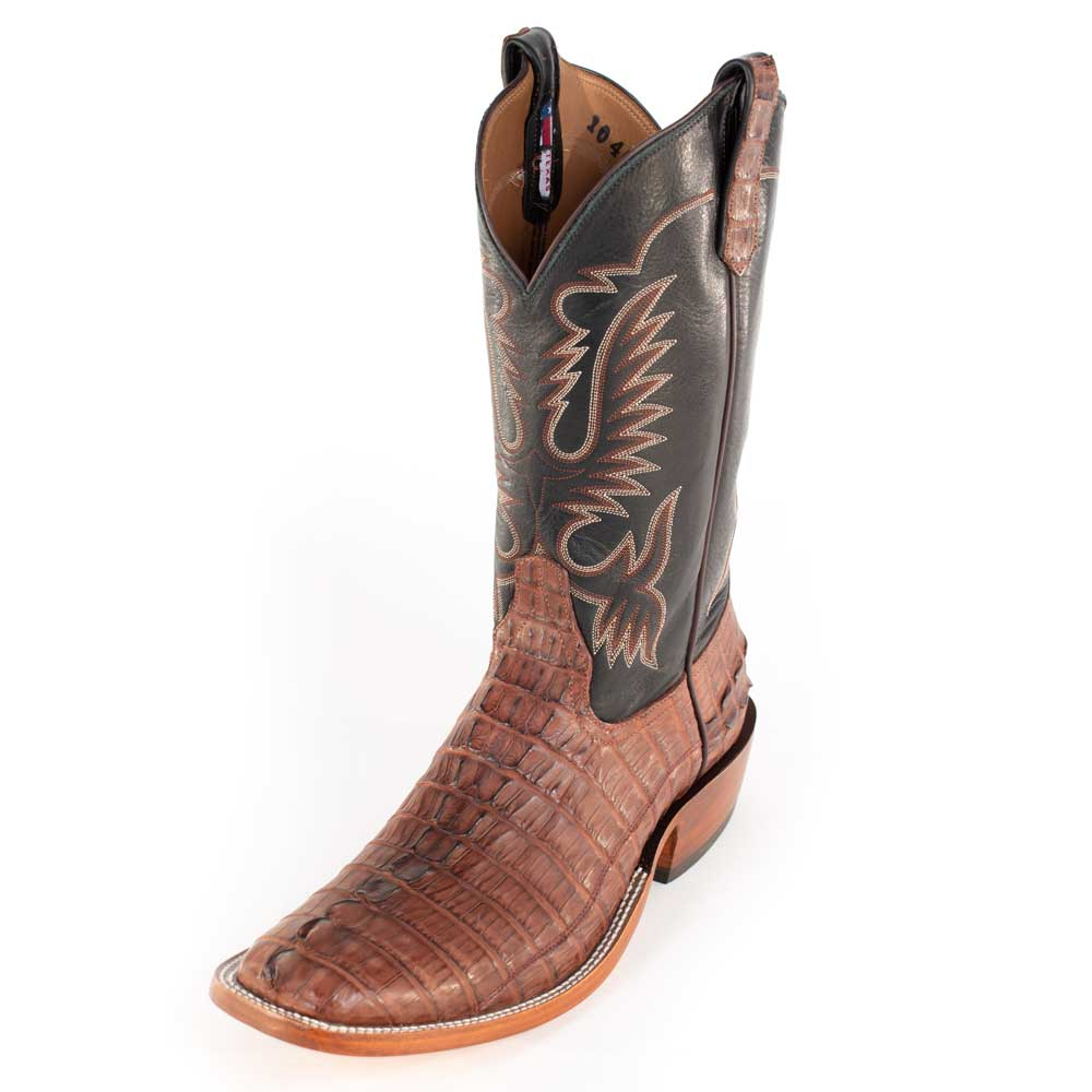 Rios Of Mercedes Barrel Brown Caimen Tail Boot MEN - Footwear - Exotic Western Boots RIOS OF MERCEDES BOOT CO. Teskeys