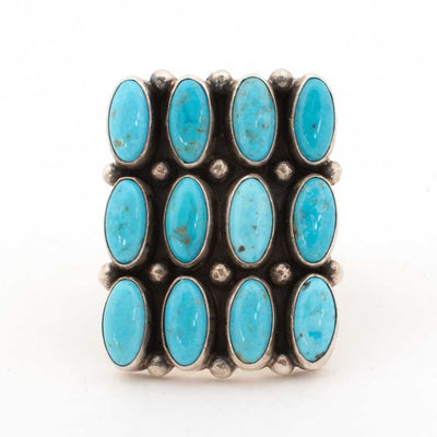 Nevada Turquoise 12 Stone Ring WOMEN - Accessories - Jewelry - Rings Shady Lady & Co Teskeys