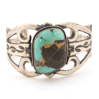 Martha Cayatino Royston Turquoise Cuff WOMEN - Accessories - Jewelry - Bracelets Indian Touch of Gallup Teskeys