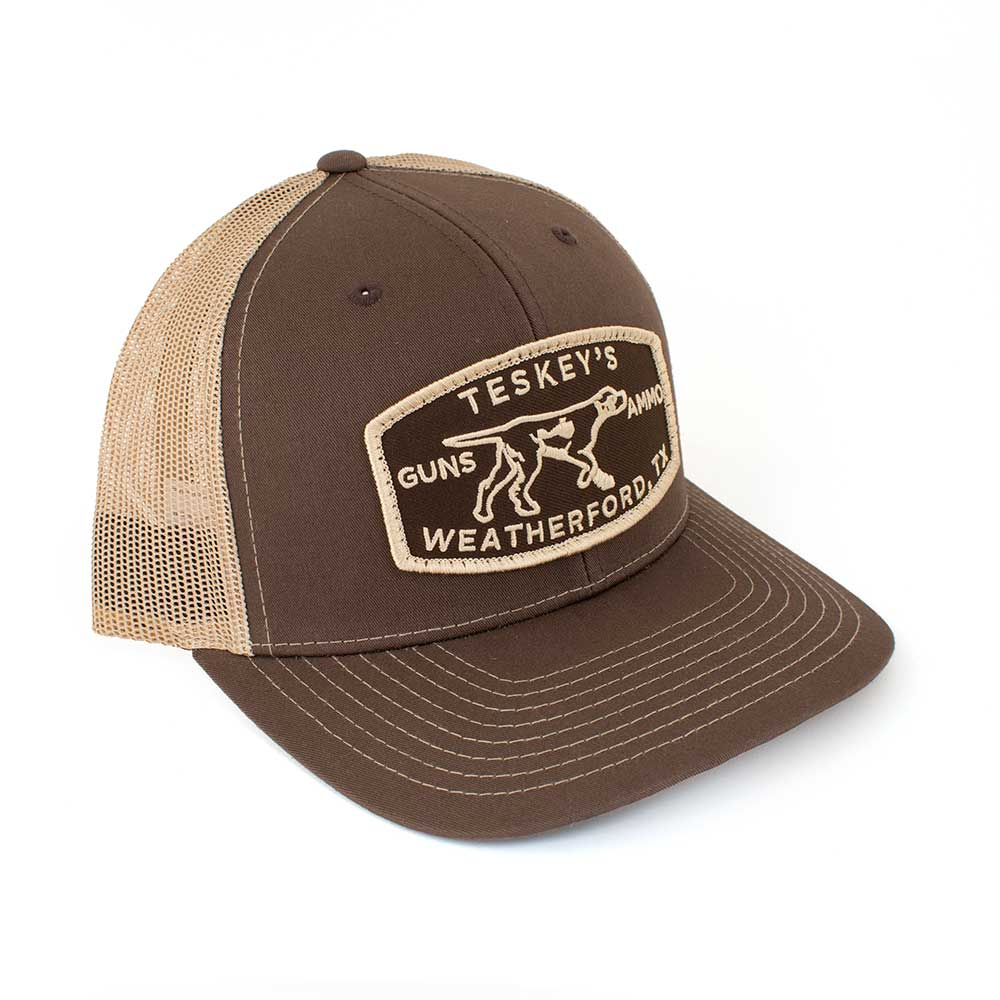 Teskey's G&A Patch Cap - Brown/Khaki TESKEY'S GEAR - Baseball Caps RICHARDSON Teskeys