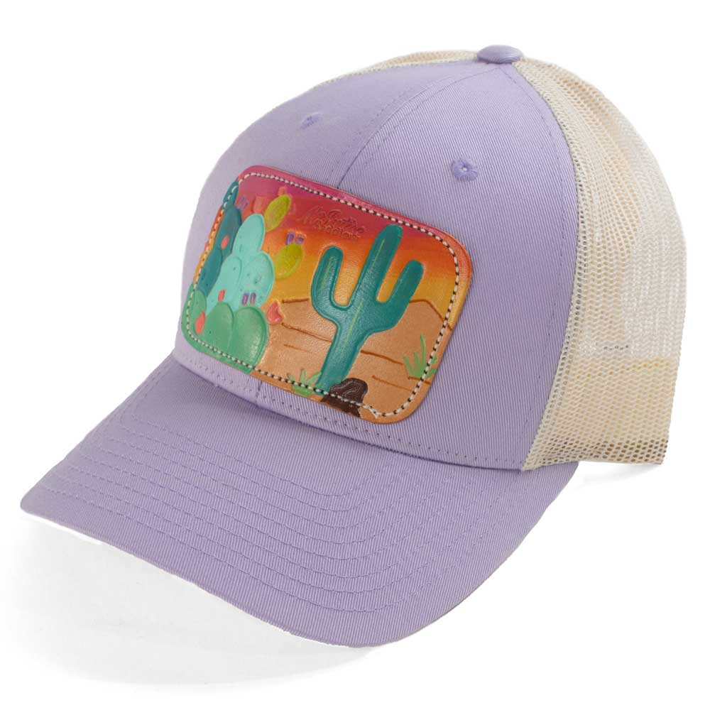McIntire Saddlery Spring Cactus Teal Saguaro Cap Lilac/Birch WOMEN - Accessories - Caps, Hats & Fedoras MCINTIRE SADDLERY Teskeys