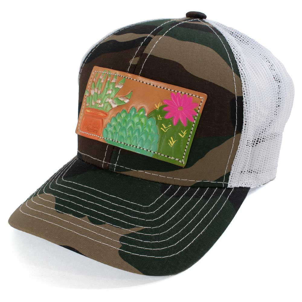 McIntire Saddlery Succulent Patch Cap Camo/White WOMEN - Accessories - Caps, Hats & Fedoras MCINTIRE SADDLERY Teskeys