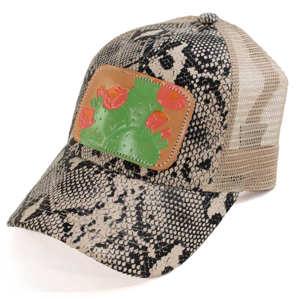 McIntire Saddlery Snake Print Cactus Ponytail Cap WOMEN - Accessories - Caps, Hats & Fedoras MCINTIRE SADDLERY Teskeys