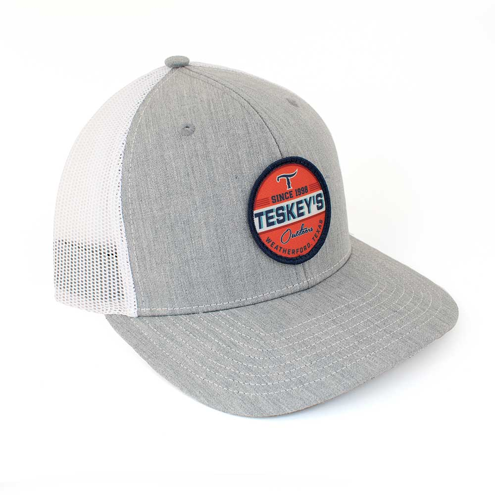 Teskey's Outdoors Icon Cap - Heather Grey/White TESKEY'S GEAR - Baseball Caps RICHARDSON Teskeys
