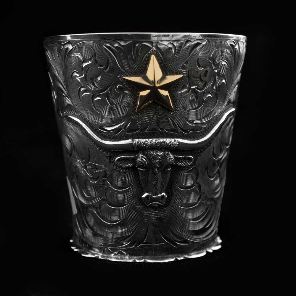 Comstock Heritage Sterling Silver Longhorn Shot Glass HOME & GIFTS - Tabletop + Kitchen - Bar Accessories COMSTOCK HERITAGE Teskeys