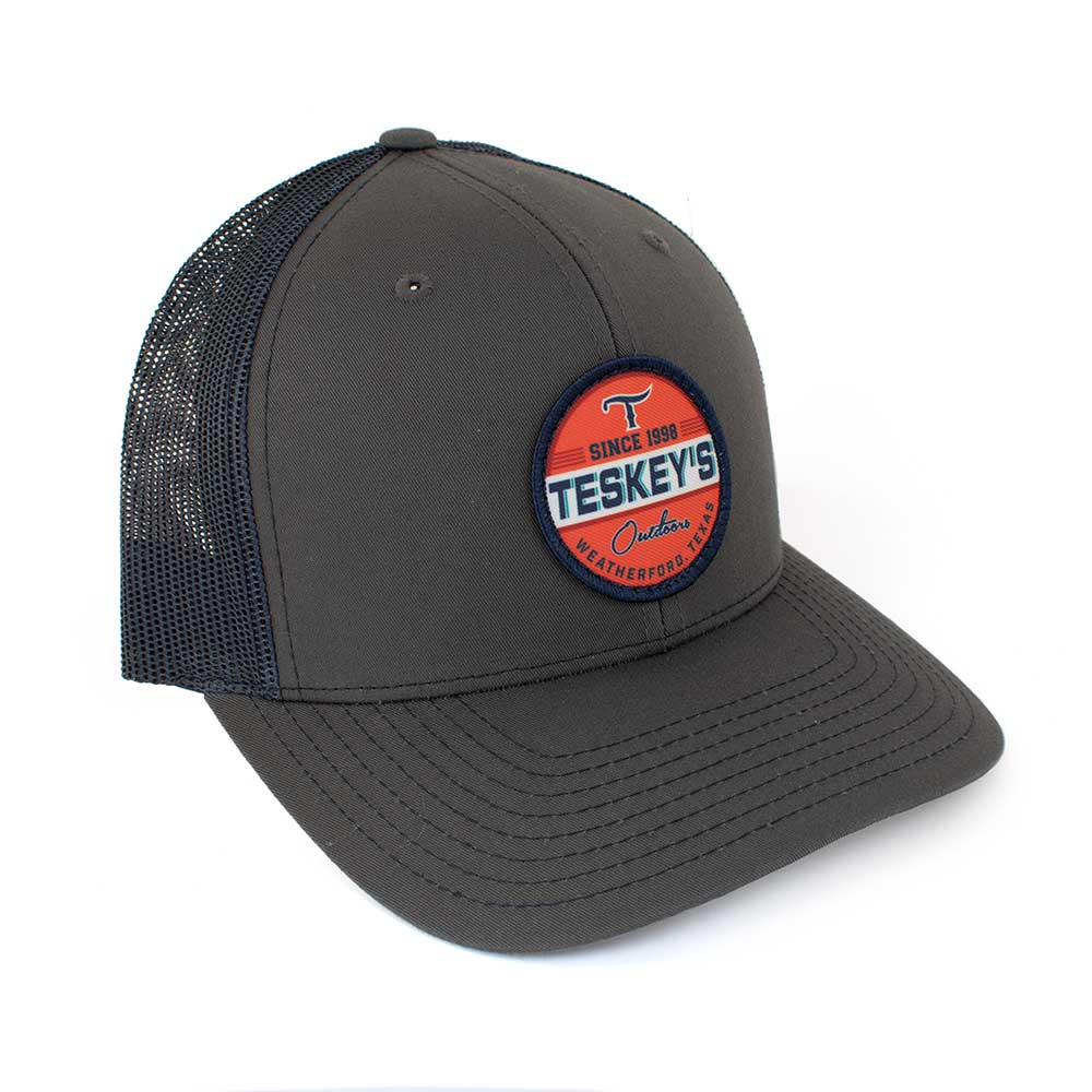 Teskey's Outdoors Icon Cap - Charcoal/Navy TESKEY'S GEAR - Baseball Caps RICHARDSON Teskeys