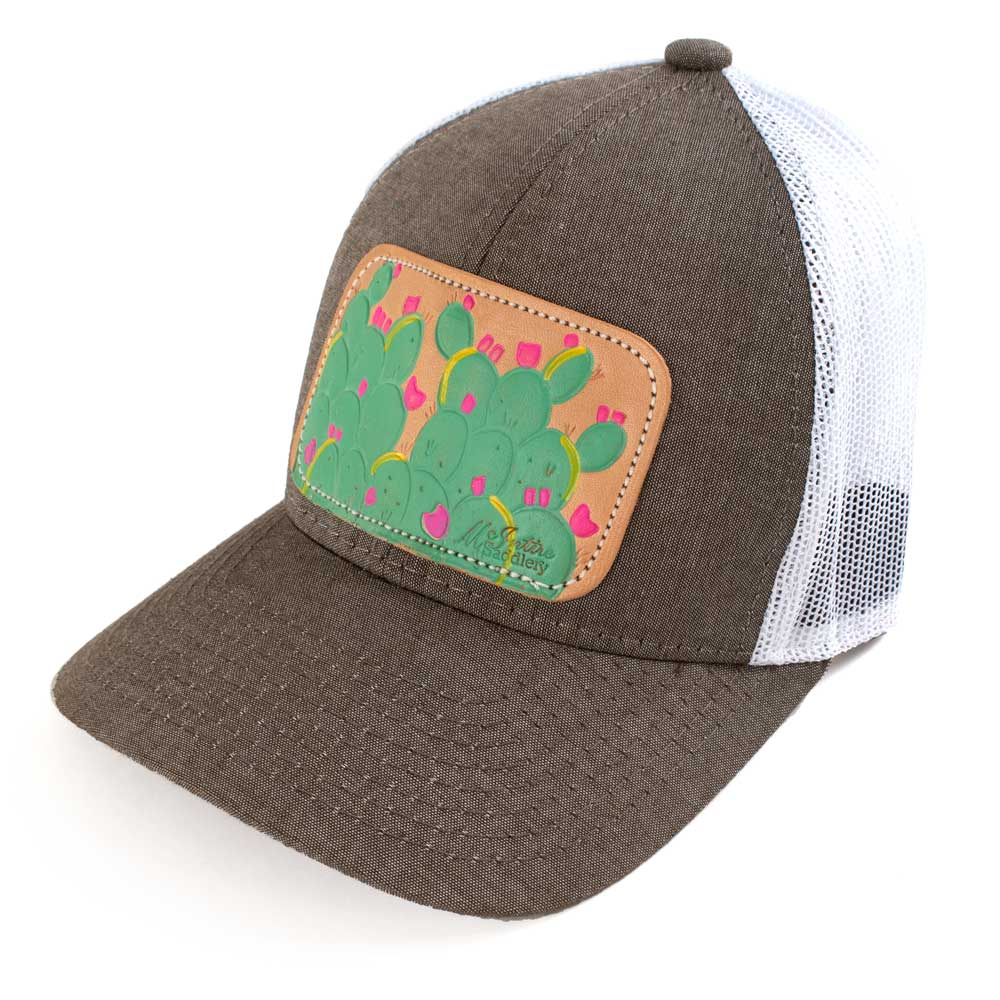 McIntire Saddlery Spring Cactus Cap Heather Brown/White WOMEN - Accessories - Caps, Hats & Fedoras MCINTIRE SADDLERY Teskeys