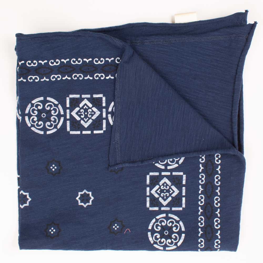 Vintage Print Bandana - Light Navy Blue WOMEN - Accessories - Scarves & Wraps DYLAN Teskeys