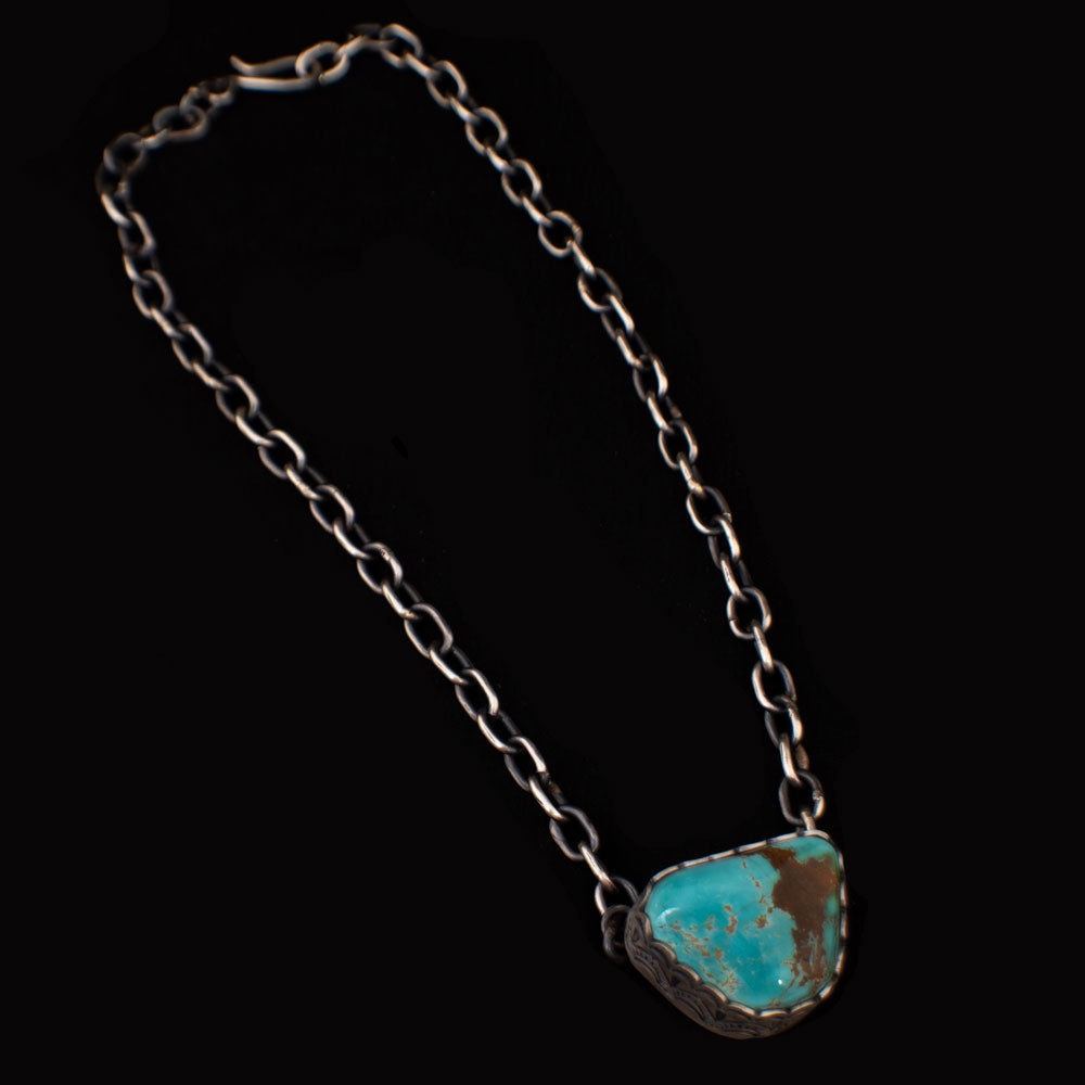 Turquoise Stone on Chain Necklace WOMEN - Accessories - Jewelry - Necklaces SUNWEST SILVER Teskeys