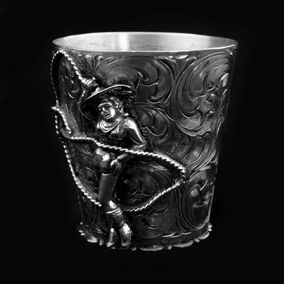 Comstock Heritage Sterling Silver Cowgirl Shot Glass HOME & GIFTS - Tabletop + Kitchen - Bar Accessories COMSTOCK HERITAGE Teskeys