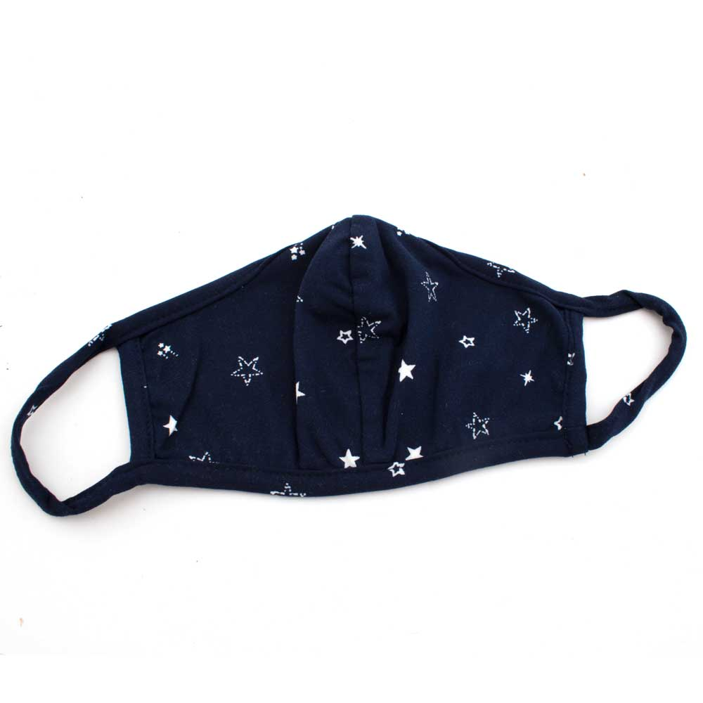 Navy & White Star Washable Face Mask