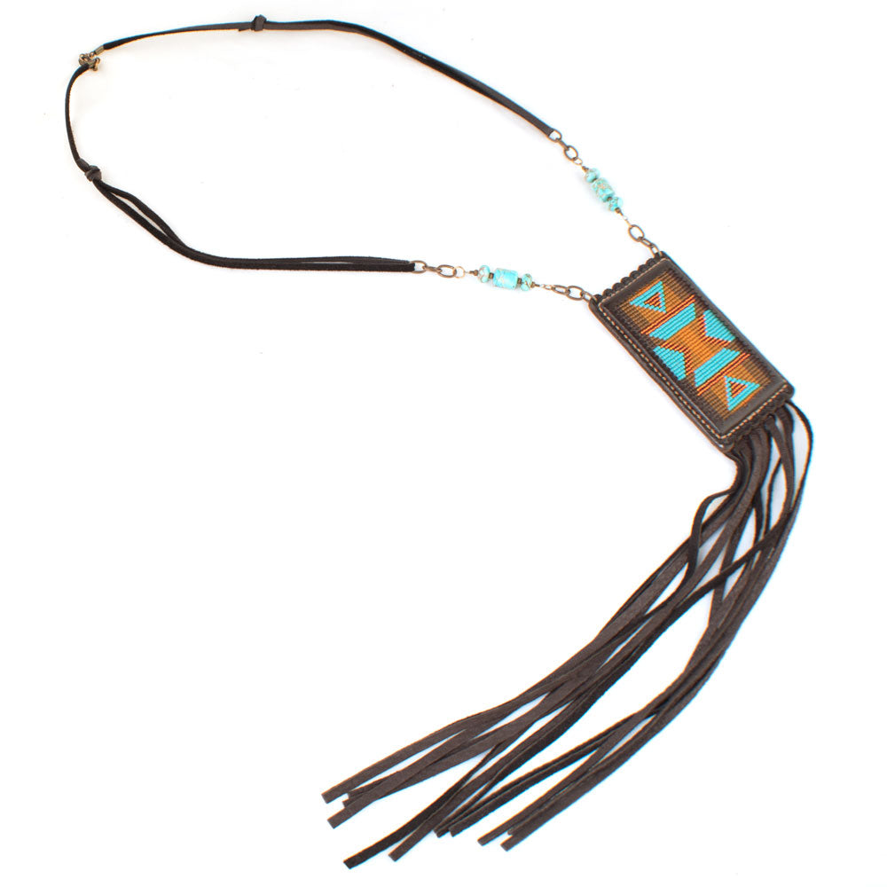 Loom Fringe with Jasper Necklace WOMEN - Accessories - Jewelry - Necklaces J. FORKS Teskeys