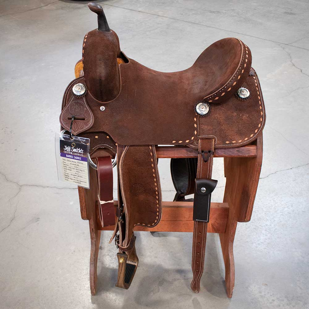 "14.5"" Jackie Ganter Jeff Smith Barrel Saddle Saddles - New Saddles - BARREL Jeff Smith Teskeys"
