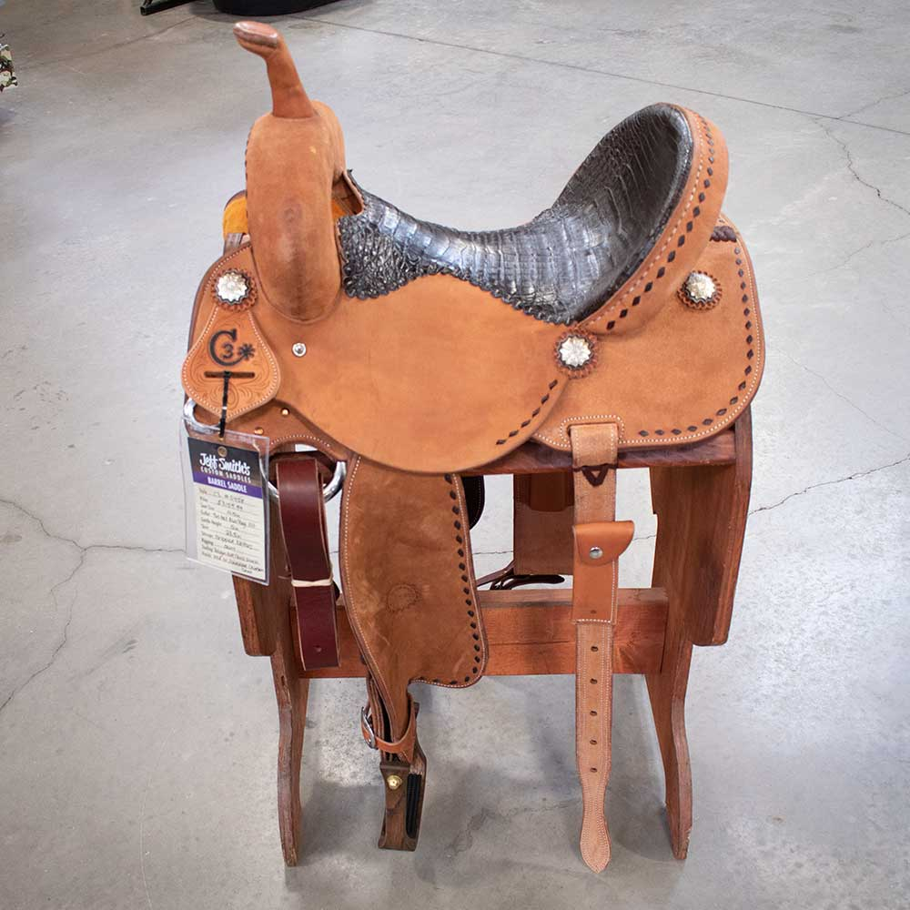 "14.5"" C3 Jeff Smith Barrel Saddle Saddles - New Saddles - BARREL Jeff Smith Teskeys"