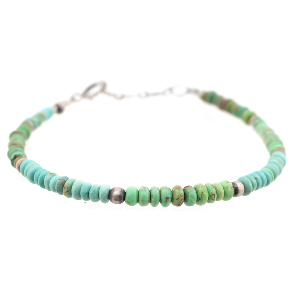 Small Round Turquoise Bead Bracelet WOMEN - Accessories - Jewelry - Bracelets SUNWEST SILVER Teskeys