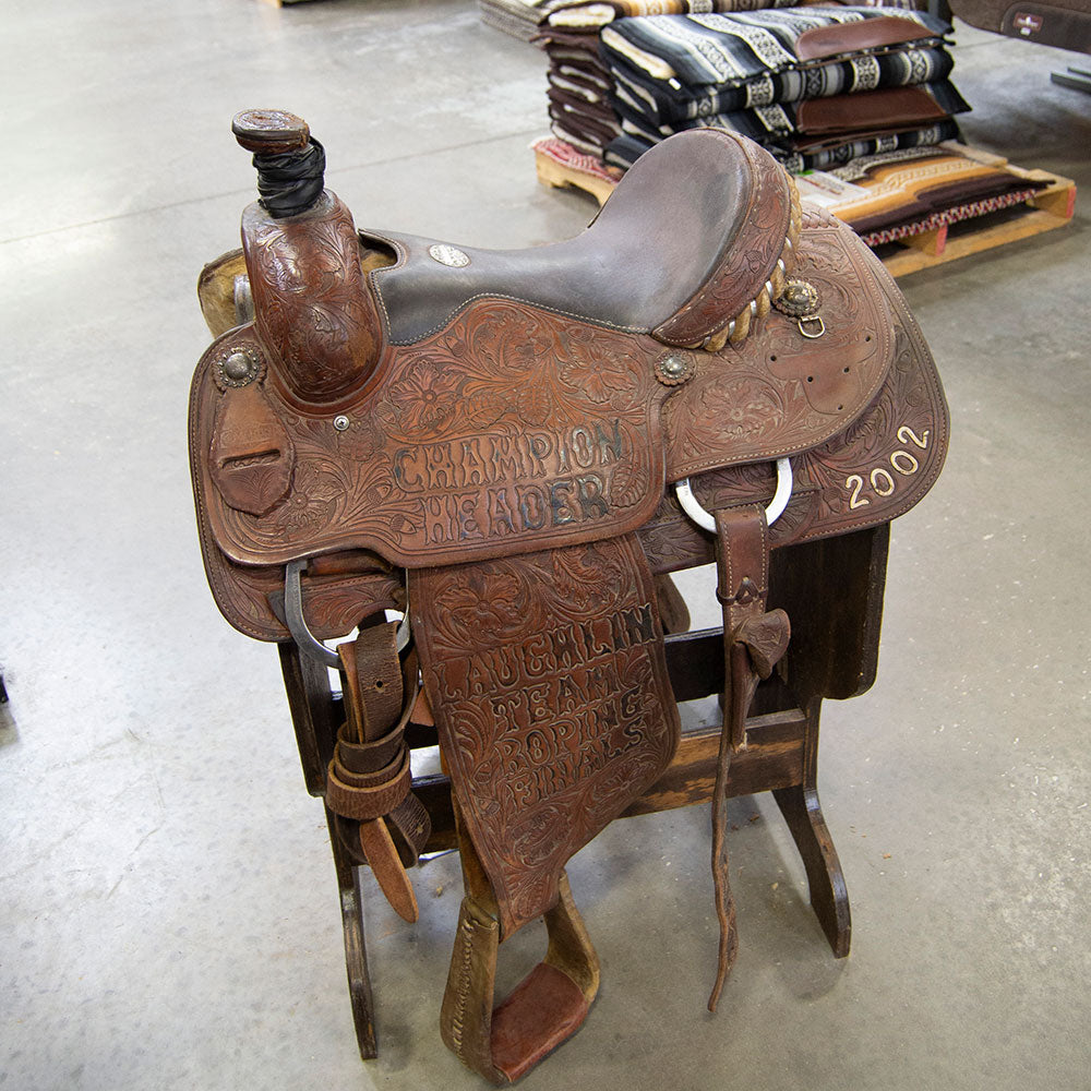 "15"" USED MARTIN ROPING SADDLE"