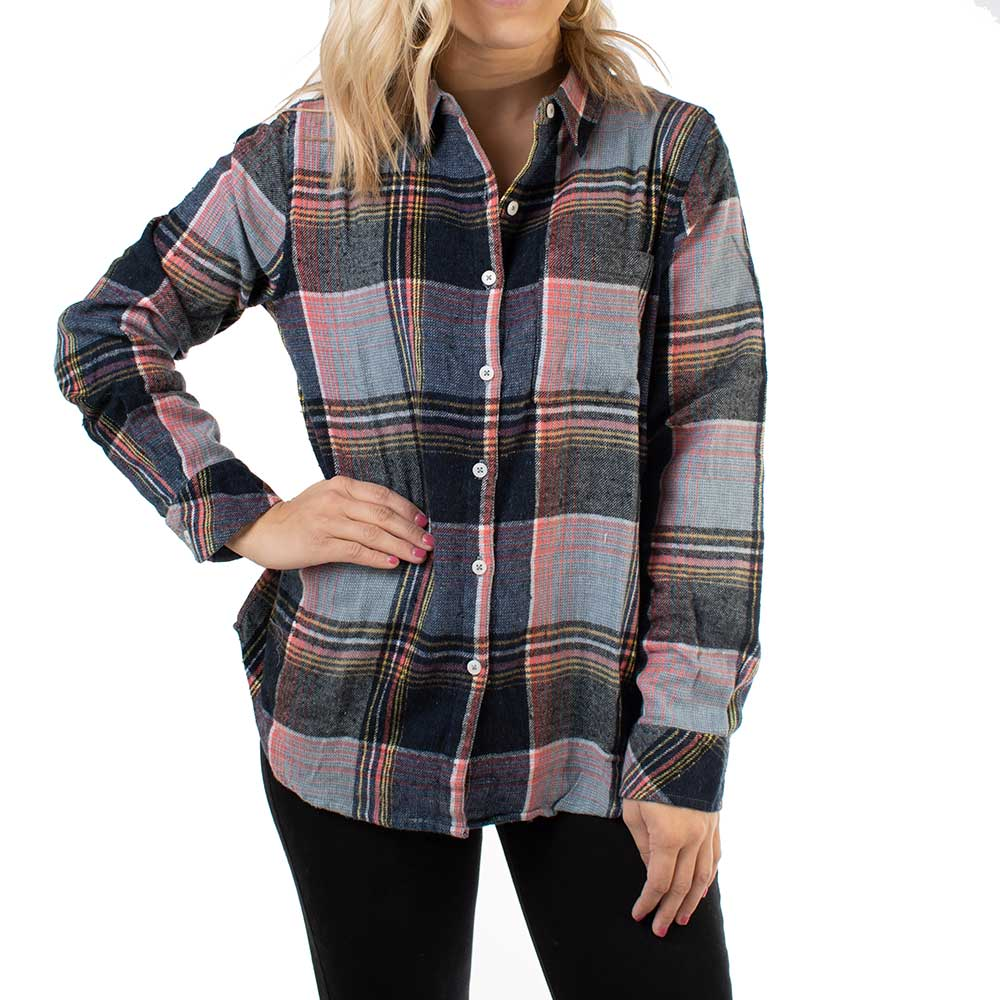Dylan Gracie Plaid Shirt WOMEN - Clothing - Tops - Long Sleeved DYLAN Teskeys