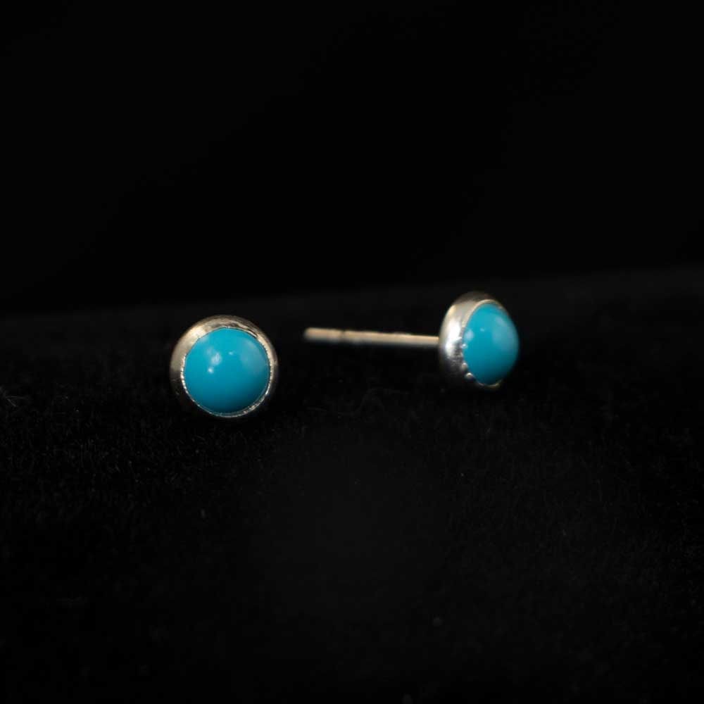 Tiny Turquoise Studs WOMEN - Accessories - Jewelry - Earrings SUNWEST SILVER Teskeys